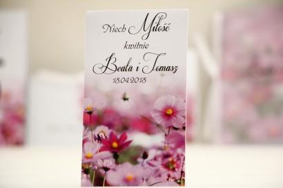 Podziękowania dla Gości weselnych - nasiona Niezapominajki - Elegant nr 5 - Fioletowe kwiaty - kwiatowe dodatki ślubne