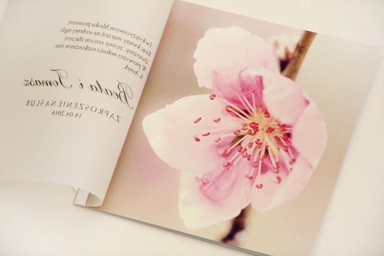 Zaproszenie ślubne, zaproszenia na ślub eleganckie z kalką - Elegant nr 12  - Kwiat wiśni