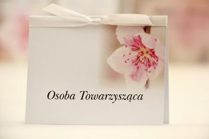 Winietki na stół weselny, ślub - Elegant nr 12 - Kwiat wiśni - kwiatowe dodatki ślubne