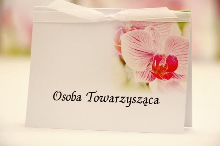 Winietki na stół weselny, ślub - Elegant nr 13 - Orchidea - kwiatowe dodatki ślubne
