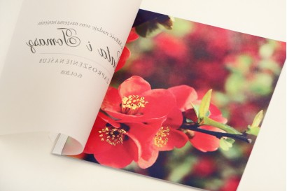 Zaproszenie ślubne, zaproszenia na ślub eleganckie z kalką - Elegant nr 15 - Czerwone kwiaty