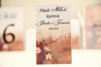 Podziękowania dla Gości weselnych - nasiona Niezapominajki - Elegant nr 16 - Drobne kwiaty jabłoni - kwiatowe dodatki ślubne