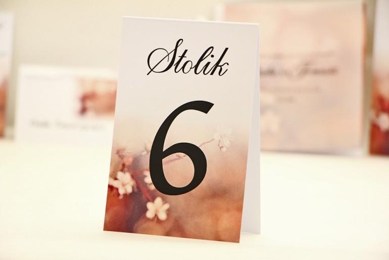 Numery stolików, stół weselny, ślub -  Elegant nr 16 - Kwiaty wiśni - dodatki ślubne