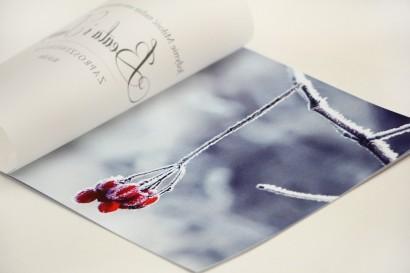 Zaproszenie ślubne, zaproszenia na ślub eleganckie z kalką - Elegant nr 17 - Zimowa jarzębina
