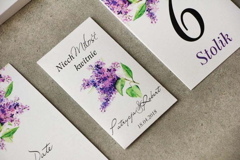 Podziękowania dla Gości weselnych - Nasiona Niezapominajki - Pistacjowe nr 2 - Intensywnie fioletowe kwiaty bzu.