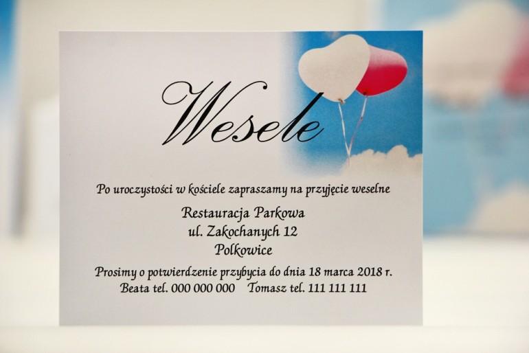 Bilecik do zaproszenia 120 x 98 mm prezenty ślubne wesele - Elegant nr 18 - Balony