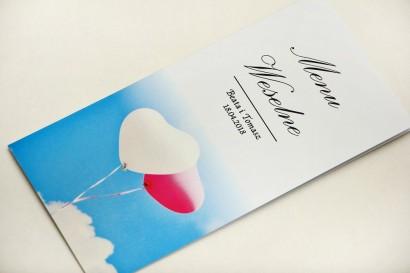 Menu weselne, stół weselny - Elegant nr 18 - Balony - Eleganckie wzory - dodatki ślubne