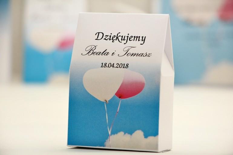Pudełeczko stojące na cukierki, podziękowania dla Gości weselnych - Elegant nr 18 - Balony - dodatki ślubne