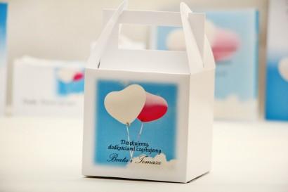 Pudełko na ciasto kwadratowe, tort weselny - Elegant nr 18 - Balony - dodatki ślubne