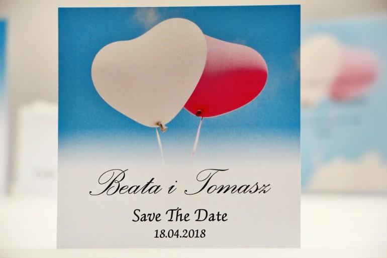 Bilecik Save The Date do zaproszenia ślubnego - Elegant nr 18 - Balony