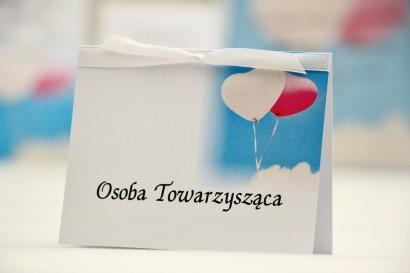 Winietki na stół weselny, ślub - Elegant nr 18 - Balony - kwiatowe dodatki ślubne