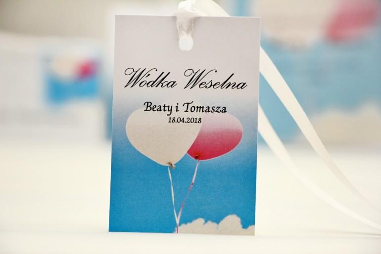Zawieszka na butelkę, wódka weselna, ślub - Elegant nr 18 - Balony - dodatki ślubne