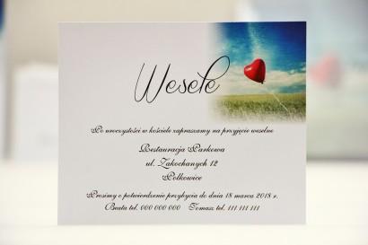 Bilecik do zaproszenia 120 x 98 mm prezenty ślubne wesele - Elegant nr 19 - Czerwony balonik