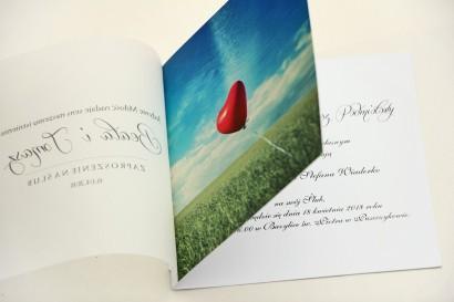 Zaproszenie ślubne, zaproszenia na ślub eleganckie z kalką - Elegant nr 19 - Balonik