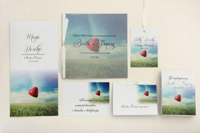 Zaproszenie ślubne z dodatkami - Elegant nr 19 - Balonik - Eleganckie z kalką