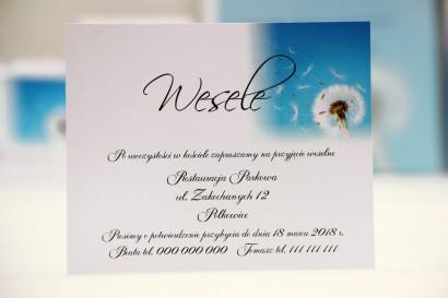 Bilecik do zaproszenia 120 x 98 mm prezenty ślubne wesele - Elegant nr 20 - Dmuchawce