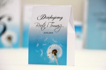 Pudełeczko stojące na cukierki, podziękowania dla Gości weselnych - Elegant nr 20 - Dmuchawce - Kwiatowe dodatki ślubne