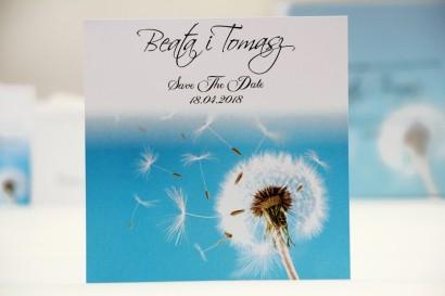 Bilecik Save The Date do zaproszenia ślubnego - Elegant nr 20 - Dmuchawiec