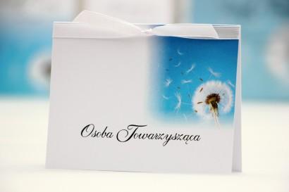 Winietki na stół weselny, ślub - Elegant nr 20 - Dmuchawiec - kwiatowe dodatki ślubne