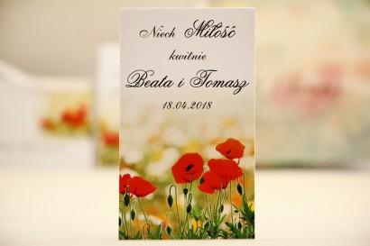 Podziękowania dla Gości weselnych - nasiona Niezapominajki - Elegant nr 21 - Polne maki - kwiatowe dodatki ślubne