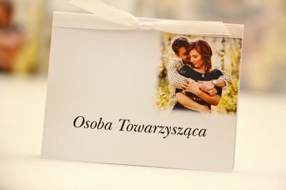 Winietki na stół weselny, ślub - Elegant nr 22 - Ze zdjęciem - kwiatowe dodatki ślubne