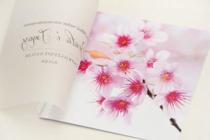 Zaproszenie ślubne, zaproszenia na ślub eleganckie z kalką - Elegant nr  23 - Kwiaty wiśni