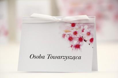 Winietki na stół weselny, ślub - Elegant nr 23 - Kwiat wiśni - kwiatowe dodatki ślubne