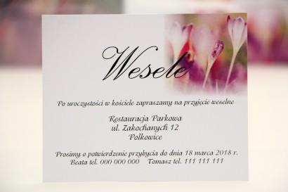 Bilecik do zaproszenia 120 x 98 mm prezenty ślubne wesele - Elegant nr 24 - Wiosenne krokusy