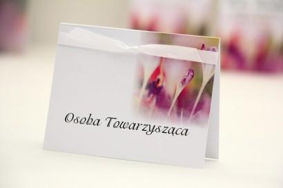 Winietki na stół weselny, ślub - Elegant nr 24 - Krokusy - kwiatowe dodatki ślubne