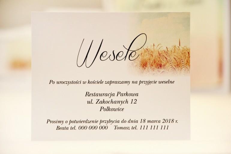 Bilecik do zaproszenia 120 x 98 mm prezenty ślubne wesele - Elegant nr 25 - Pole pszenicy