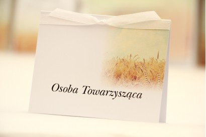 Winietki na stół weselny, ślub - Elegant nr 25 - Pole pszenicy - kwiatowe dodatki ślubne