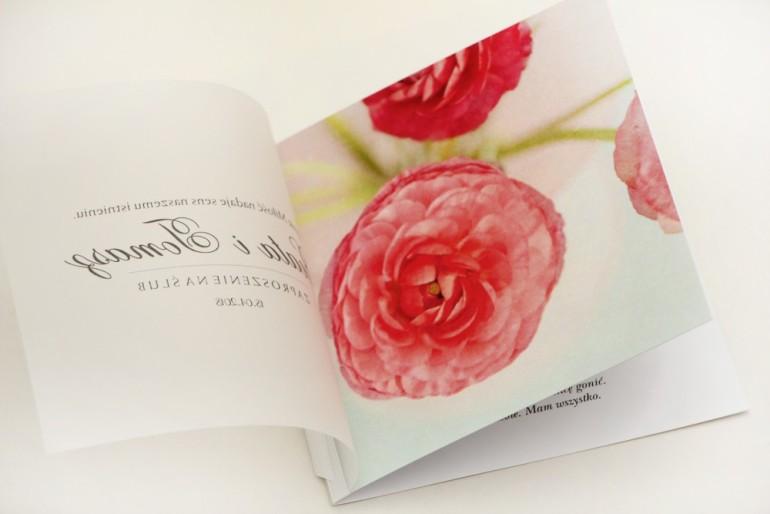 Zaproszenie ślubne, zaproszenia na ślub eleganckie z kalką - Elegant nr 27 - Różowe jaskry