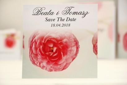 Bilecik Save The Date do zaproszenia ślubnego - Elegant nr 27 - Różowe jaskry