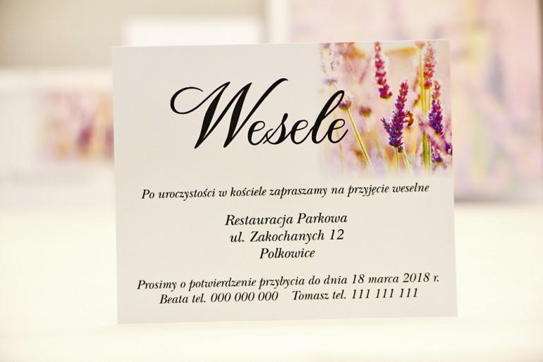 Bilecik do zaproszenia 120 x 98 mm prezenty ślubne wesele - Elegant nr 28 - Jesienne wrzosy