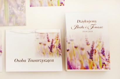 Pudełeczko stojące na cukierki, podziękowania dla Gości weselnych - Elegant nr 28 - Lawendowe pole - Kwiatowe dodatki ślubne