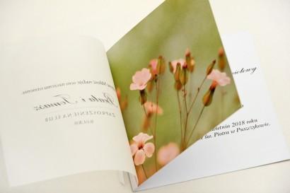 Zaproszenie ślubne, zaproszenia na ślub eleganckie z kalką - Elegant nr 29 - Polne kwiaty
