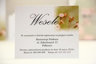 Bilecik do zaproszenia 120 x 98 mm prezenty ślubne wesele - Elegant nr 29 - Polne kwiaty