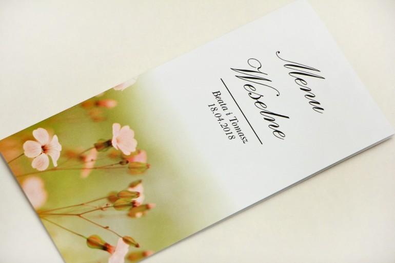 Menu weselne, stół weselny - Elegant nr 29 - Polne kwiaty - Eleganckie kwiatowe wzory - dodatki ślubne