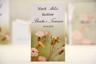 Podziękowania dla Gości weselnych - nasiona Niezapominajki - Elegant nr 29 - Polne kwiaty - kwiatowe dodatki ślubne