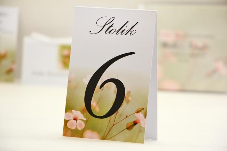 Numery stolików, stół weselny, ślub - Elegant nr 29 - delikatne kwiaty polne - dodatki ślubne