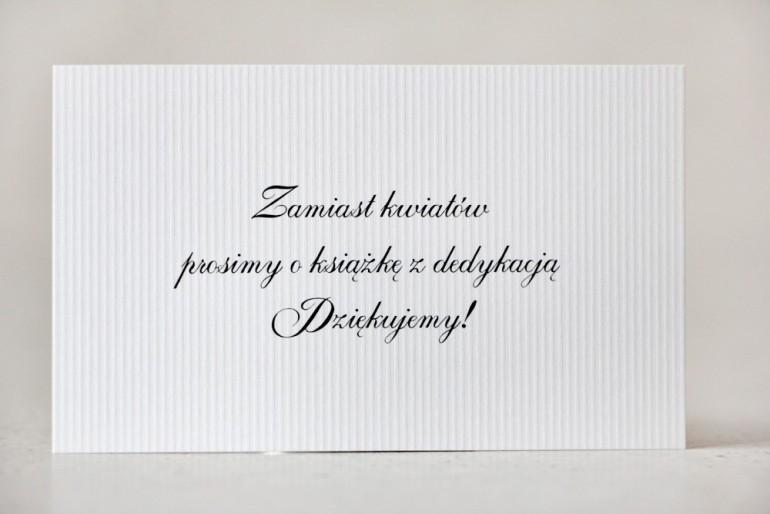 Bilecik prezenty ślubne wesele - Belisa - papier biały, zaproszenia ślubne, wierszyki