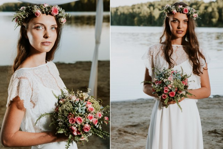 Inspiracja ślubna; wesele; ślub; Panna Młoda; bukiet ślubny; wiązanka pudrowy róż i biel