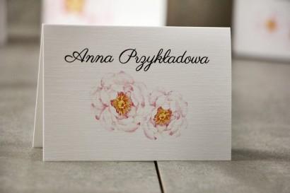 Winietki na stół weselny, ślub - Pistacjowe nr 4 - Delikatne pastelowe piwonie