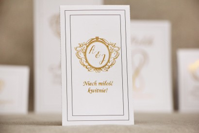 Podziękowania dla Gości weselnych - nasiona Niezapominajki - Sonata nr 9 - dodatki ślubne ze złoceniem