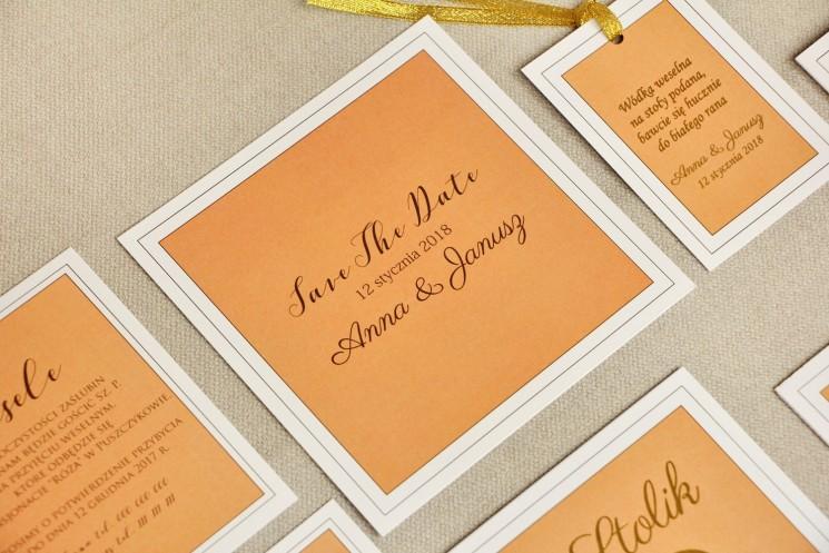 dodatki ślubne koloru pomarańczowego