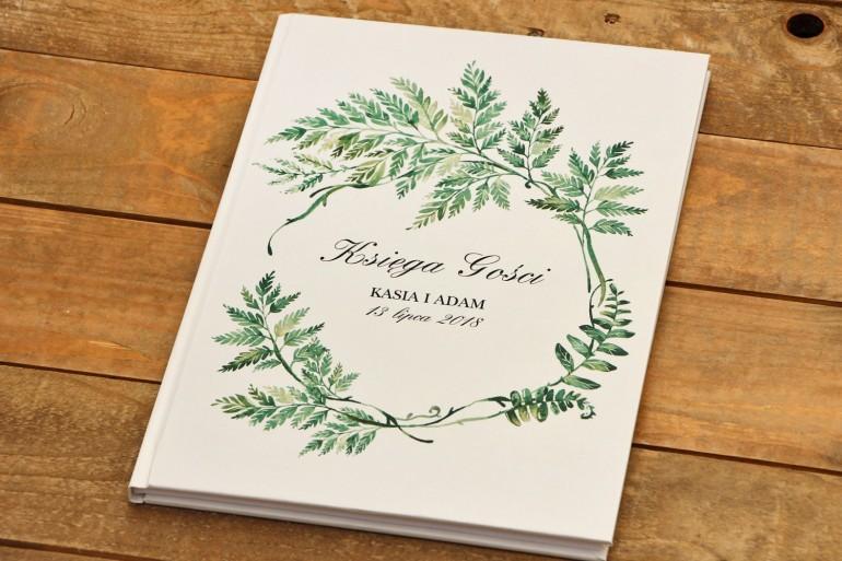 Księga Gości Kalia nr 1 - Liście paproci - dodatki ślubne, weselne akcesoria