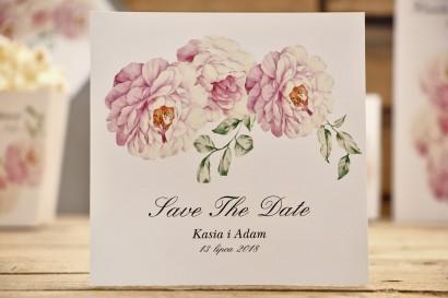 Bilecik Save The Date do zaproszenia - Kalia nr 6 - Pudrowe róże