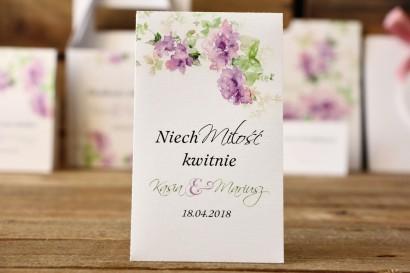 Podziękowania - nasiona Niezapominajki - Malowane Kwiaty nr 1 - Fioletowe kwiaty - dodatki ślubne