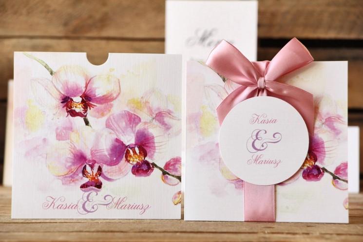zaproszenia ślubne z motywem orchidei