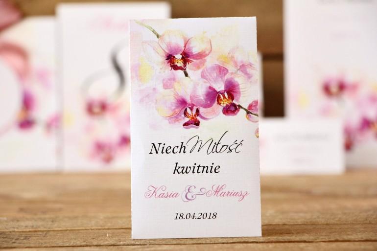 Podziękowania dla Gości - Nasiona Niezapominajki - Malowane Kwiaty nr 2 - Orchidee